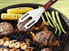 Quirky Stainless Steel Grill Wrangler 3-in-1 Multifunction BBQ Tool