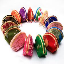 5 PCS Chinese Silk Pouch Wallet Coin Purse Jewelry Gift  Bag Random Color EW11