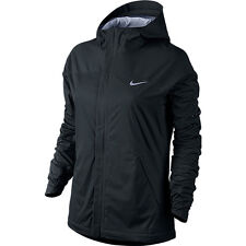 NIKE SHIELDRUNNER WOMENS RUNNING JACKET SIZE S SMALL BLACK PERFORMANCE TOP