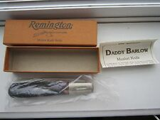 REMINGTON USA DADDY BARLOW Musket bone ONE RB1240 Knife NIB with papers RED BONE