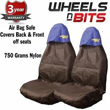 Volkswagen Passat Fox Seat Cover Waterproof Nylon Front Pair Protector BLUE TOP