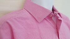 Polo Ralph Lauren Mens Shirt Pink Check Regent Classic Fit 17 1/2 34/35 Cotton