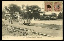 Guinee France Cols Conakry railway 05 ovpts on 20c pair Conakry pmks to Paris
