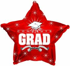 "18"" Red Congrats Grad Star Balloon Party Decoration Congratulations Graduate"