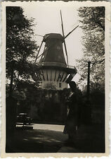 PHOTO ANCIENNE - VINTAGE SNAPSHOT - MOULIN À VENT SILHOUETTE - WINDMILL 1935