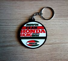 New HONDA Racing Team Keychain Key ring Rubber Motorcycle Car Collectible Gift