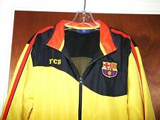 FCB Barcelona Spain Soccer Futbol Light Jacket Jersey Football Shirt Vtg Mens S