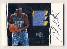 Carmelo Anthony 2003-04 Upper Deck Exquisite Patch Autograph Auto RC 012/100