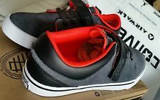 BNIB Junior CONVERSE Leather Grey Black 24CM US 6 UK 5.5 OR 38.5 EURO SHOES
