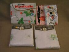 NIP Vintage USA Floral Twin Fitted & Flat Bed Sheets & Pillow Case Lot - L@@K!