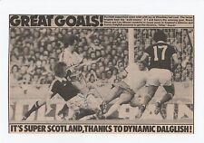 KENNY DALGLISH LIVERPOOL 1977-1990 ORIGINAL HAND SIGNED MAGAZINE PICTURE CUTTING