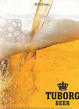 Publicité Advertising 1989  Bière TUBORG