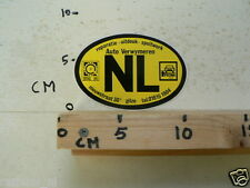STICKER,DECAL NL COUNTRY AUTO VERWYMEREN BOVAG FOCWA GILZE