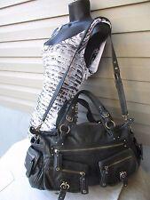 Junior Drake shoulder bag hand bag Grey Leather