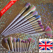 KAWAII UNICORN HORN RAINBOW 10pcs Makeup brushes set, Foundation Kabuki Brushes