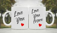 Love you cute funny coffee mug cup glass 11oz gift love his her couples wedding