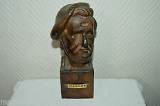 SCULPURE STATUE EN BOIS RICHARD WAGNER  20 CM  FIGURE WOOD TBE