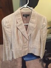 Jones New York Collection Linen Jacket Size 8 Chino/Jivo New with Tag
