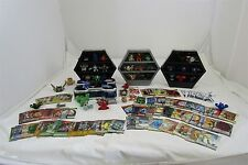 Bakugan - Lot of 37 Bakugan Brawlers figures with 3 Cases and some cards