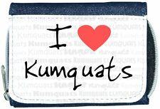 I Love Heart Kumquats Denim Wallet