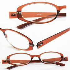Reading Glasses Twist and See Flexi Flexible Fun Frame Espresso Brown +1.50 Lens