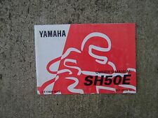 1992 Yamaha SH50E Motorcycle Owner Service Manual MORE CYCLE ITEMS IN STORE  S
