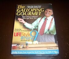 THE GALLOPING GOURMET Lifestyle Nine World Recipes Diabetic Cooking DVD Set NEW