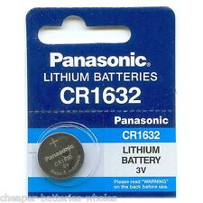 1 PANASONIC CR1632 ECR1632 CR 1632 3v Lithium Battery NEW Exp 2026