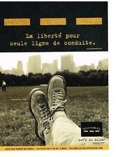 PUBLICITE ADVERTISING  2001  YELLO MILES  chaussures
