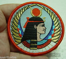 WINGED ISIS SEW ON CLOTHING PATCH - Wicca Witch Pagan Goddess Gopth