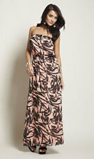 BNWT BY ROCK AND REVIVAL BANDEAU MAXI DRESS 100% COTTON PINK SIZE 10