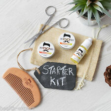 Mo Bro's Orange Toilette Kit Cire À Moustache, Barbe Baume, Huile, Peigne, Bag