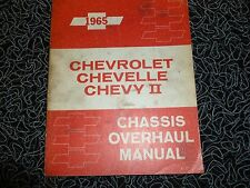 1965 CHEVROLET CHEVELLE CHEVY II CHASSIS OVERHAUL MANUAL ORIGINAL FACTORY