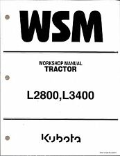 Kubota L2800 L3400  L3700SU Tractor Workshop Service Repair Manual