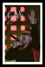 BONO AUTOGRAPHED SIGNED & FRAMED PP POSTER PHOTO