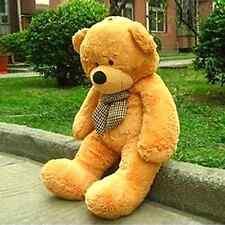 """Teddy Bear Giant 55"""" Big Stuffed Animal Brown Plush Soft Toy 140CM"""