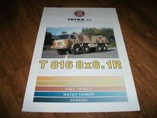 TATRA T 816 8x8.1 R Military Trucks Range Brochure Prospekt Catalogue