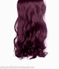"20""-22"" CURLY WAVY FULL HEAD CLIP IN HAIR EXTENSIONS - ALL COLOURS- PREMIUM"