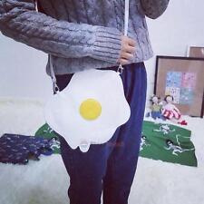 Cute Fried Egg Bag Women Shoulder Bag Soft Zipper Wallet Phone Coin Phone Purse