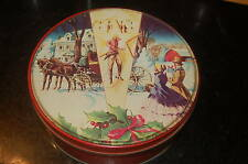 Vintage Deluxe Christmas Holiday Tin Cookies Fruit Cake Collin St. Bakery Texas