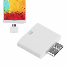 30 Pin To Micro USB 3.0 Charging Adapter For iPhone 4 4S To Samsung Note 3 III