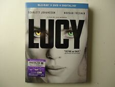 Lucy (Blu-ray/DVD, 2015, 2-Disc Set, Includes Digital Copy) NEW w/slipcover