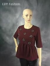 ANN TAYLOR PEPLUM TOP WITH EMBELLISHMENT SIZE SMALL (B23)