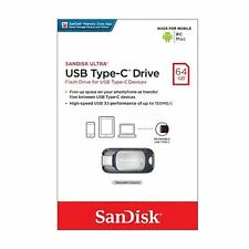 Sandisk SDCZ450 64 GB USB 3.1 Type-C PenDrive Flash Drive Stick para Macbook