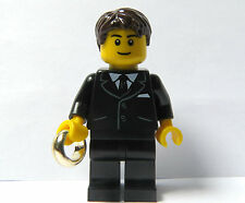 Lego Wedding Minifigure Black Suit Gold Ring  Best Man Usher Groom Cake Topper