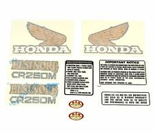 Decal Set ✰ Honda CR250M Elsinore 1973-1975 ✰ Gas Tank Side Covers Warning Label