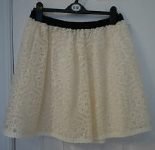 New In Package Boden Johnnie B Ivory Lace India Skirt ~ Girl's 11-12 Year