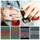 2PCS 3D Acrylic Nail Art Tips Stickers DIY Colorful Decal Wraps Manicure Decor