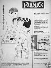 PUBLICITÉ 1960 FORMICA PANNEAU DE REVÊTEMENT EN PLASTIQUE STRATIFIÉ POUR CUISINE