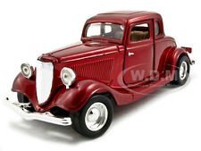 1934 FORD COUPE RED 1:24 DIECAST MODEL CAR BY MOTORMAX 73217